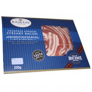 Ramsay of Carluke Unsmoked Ayrshire Streaky Bacon